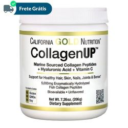 CollagenUP, Colágeno Marinho + Ácido Hialurônico + Vitamina C - California Gold Nutrition (204g)