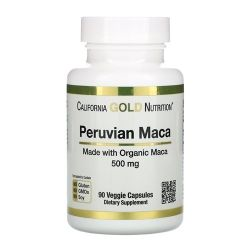 Maca Peruana - California Gold Nutrition (90 Cápsulas)
